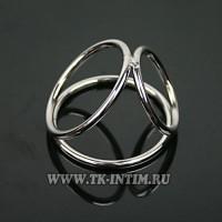 Толстое металлическое кольцо на член
