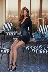 Корсет Essential Satin Leather Corset, черный