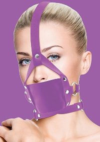 Кляп Leather Mouth Purple OUCH